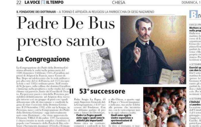 Cesare De Bus presto santo